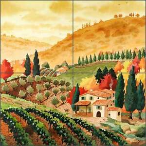 Ceramic Tile Mural Kitchen Backsplash Altman Tuscan Farmhouse Art RWA015