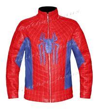 The Amazing Spider Man 2 Stylish Real Leather Biker Bomber Costume Jacket Sz M