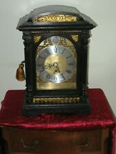 More details for an eglish chain fusee bracket clock in a black case.