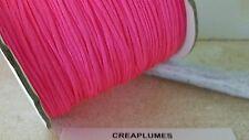 Lot de 5m cordon fil de nylon pour bracelet , 1.5mm  rose fluo