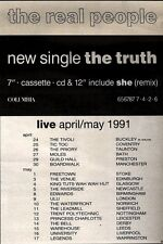 20/4/91 Pgn12 Advert: The Real People New Single the Truth & On Tour 7x5