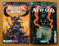 DARK NIGHTS DEATH METAL RISE OF THE NEW GOD 1 and ROBIN KING 1 2020 NM