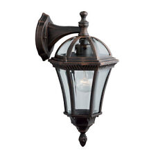 Searchlight Capri 1 Light Rustic Brown Cast Aluminium Outdoor Wall Light Lamp