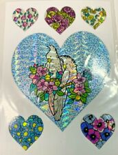 Vintage 1980's Prism Cockatoos Flowers & Hearts Stickers Lot Of 26 Sheets