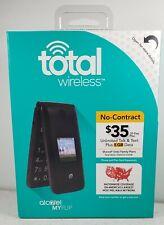 Total Wireless Alcatel MyFlip  TWALA405 Prepaid Flip Cell Phone New Factory Seal
