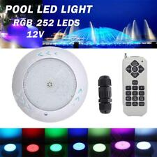 18W RGB LED Light Underwater Swimming Pool Pond Remote Controller Lamp 12V