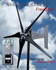Wind turbine PACKAGE Freedom 12 V 1700 watt 5 blade wind turbine BLK Bare steel