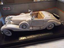 Mercedes Benz 500K  Typ Specialroadster 1936 weiß Maharadscha Maßstab1:18
