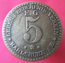 Old Rare Deutsche token - Karlsruhe - Lebens B.Verein 15980.1 --mehr am ebay.pl