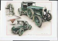 Alvis sd 12/50 vert nouveau artwork print greeting cadeau anniversaire carte de noël