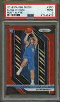 2018 Panini Prizm Ruby Wave #280 Luka Doncic Rookie Card PSA 9