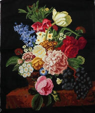 "LUXURY New Completed finished cross stitch needlepoint""FRUITS AND FLOWER""decor"