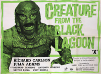 1954 The Creature From The Black Lagoon > Movie Poster Print > 🐸🎬🍿