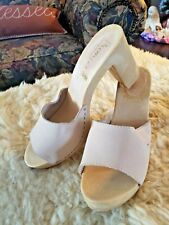 New listing Vtg Premier open toe Clogs Clunky Heel 80's Made in Italy sz 9/40 Candie's like
