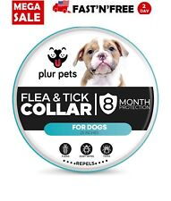 Dog Natural Scent Flea and Tick Collar for Small Dog 8 Months Protection Control
