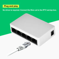 5 Port 10/100 Mbps RJ45 Desktop Ethernet Network LAN Power Adapter Switch Hub