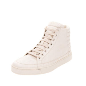 RRP €1895 GUCCI Python Skin Sneakers EU40.5 UK6.5 US7 Padded Logo Made in Italy