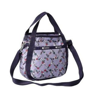 LeSportsac Classic Collection Small Jenni Crossbody in Hudson Hearts Purple NWT