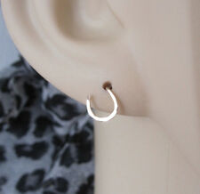Yellow gold filled wire small Lucky Horse shoe HORSESHOE stud earrings