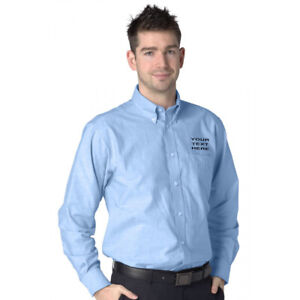 PERSONALISED/EMBROIDERED DELUXE LONG SLEEVE OXFORD SHIRTS,  FORMAL SHIRT, S-4XL