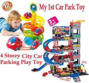 4 Storey City Car Park Auto Parking Garage Childrens Cars Play Set Toy Xmas Gift