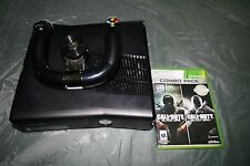 XBOX 360 Game Console, Call of Duty Black Ops, Racing Wheel Controller Bundle