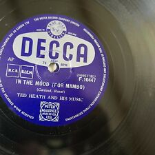 78rpm TED HEATH & HIS MUSIC in the mood for mambo / peg o` my heart