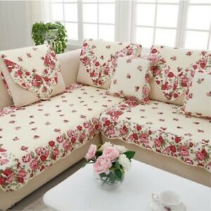 Rural Style Corner Sofa Towel Cover Cushion Cotton  Fabric Couch Covers  Room