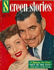 Clark Gable Loretta Young SCREEN Stories magazine DELL 1950 key to the city