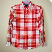 Banana Republic Plaid Lumberjack Shirt SLIM FIT Button Front Mens Small Cotton