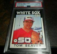 1986 O-PEE-CHEE #390 TOM SEAVER CHICAGO WHITE SOX HOF LOW POP PSA 10 GEM MINT