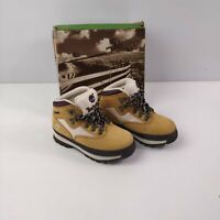 BNIB BOYS KIDS TIMBERLAND BROWN LACE UP ANKLE BOOTS SHOES UK 8.5 EU 26