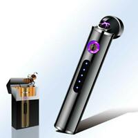 USB Electric Dual Arc Flameless Torch Rechargeable Windproof Cigarette Lighter