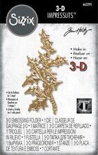 Sizzix 3d Impresslits Embossing Folder Holly Leaf by Tim Holtz