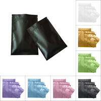 100 pc Solid Resealable Aluminum Foil Mylar Zip Lock Bags Food Packaging Pouches