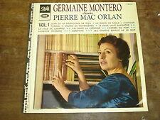 GERMAINE MONTERO Chante Pierre Mac orlan- vol 1 LP