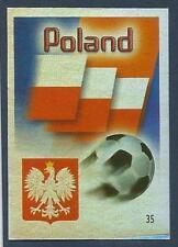 MUNDOCROM WORLD CUP 2006- #035-POLAND TEAM BADGE-SILVER FOIL