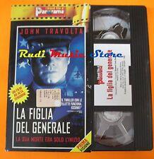 film VHS LA FIGLIA DEL GENERALE J. Travolta   CARTONATA PANORAMA (FP3*)  no dvd
