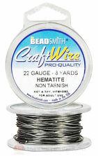 Hematite 22GA Round Craft Wire Jewelry Beading Wrapping Jump Rings 8 Yds