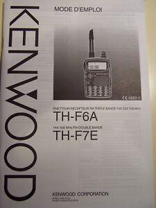TH-F7 TH-F6 Kenwood Manuel Utilisateur Italien Et Français B62-1442-00