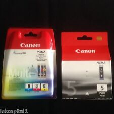 1 Lot 4 Canon Original OEM Pixma Cartouches D'encre Pour MP510 PGI-5BK & CLI-8BK