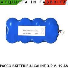 Pacco Batterie 3-9-12 V. 19 Ah 8 Torcioni in Serie Ricambio Sirena Radio SH-B39