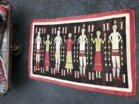 Antique Navajo Yei Rug Carpet Yeibichai Native American Rug Chiefs Blanket 1915
