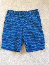 LULULEMON Men's Kahuna Shorts Multicolor Check SZ 36 Nylon Spandex Unlined GUC