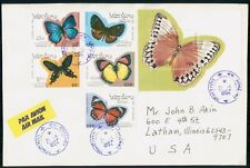 Mayfairstamps Laos 1994 Butterflies Combo Souvenir Sheet to US Cover wwh41119