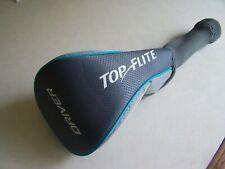 Top Flite Sock Style Gray /Light gray/Light blue Driver Head Cover-