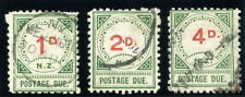 New Zealand 1889 QV Postage Due set complete very fine used. SG D14-D16.
