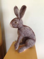Handmade Needle Felted Hare Realistic 28cm Tall Unique Gift Needlefelted