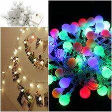 5m 40 Led Garland String Ball Light Wedding Christmas Holiday Decoration Outdoor