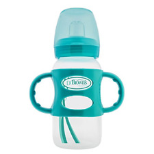 Dr. Brown's Options Wide-Neck Sippy Spout Baby Bottle with Silicone Handle, 9
